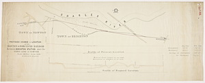 Proposed change of location of the Boston and Worcester Railroad between Brighton Station and the town line of Newton / E.S. Philbrick, engineer.