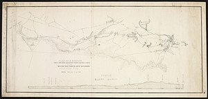 Plan of a survey for a branch railroad from South Canton to the Boston Hartford & Erie Railroad near Hyde Park
