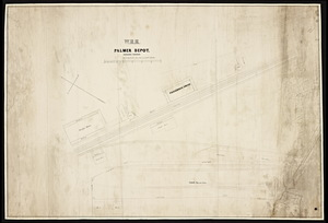 [Plan of the] W.R.R. Palmer depot / by H.M. Butler from surveys by Wm. H. Butler.