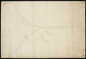 [Map of Boston and Lowell and Nashua and Lowell Railroads near the Lowell depot]