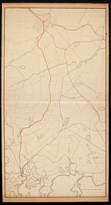 [Map of Boston to Lowell Railroad, also Lowell and Lawrence and Salem and Lowell Railroads].