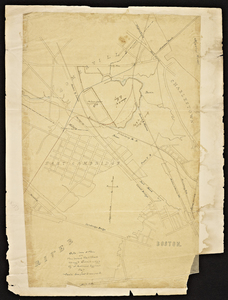 Copy from a plan of a proposed railroad through Cambridge / Alonzo Andrews, engineer.
