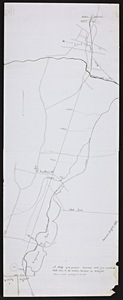 Map of the proposed railroad route from Connecticut State line to the Western railroad in Westfield.