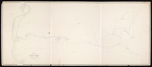 Route of proposed railroad between Holyoke and Palmer / surveyed by Alfred R. Field, engineer.