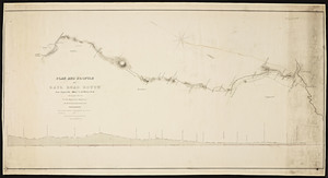 Plan and profile of a railroad route from Pepperell, Mass. to E. Wilton, N.H.