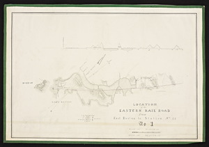 Location of the Eastern Railroad from East Boston to the Merrimack River / J.M. Fessenden, engr.