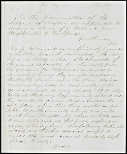 Letter to the Committee of the citizens of Hopkinton appointed to procure a survey of a railroad from Hopkinston to Milford: Ashland, April 10, 1867