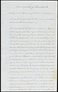 Act of incorporation for the Dorchester and Milton Extension Railroad Company, 1849