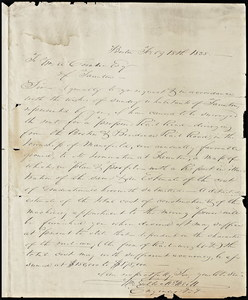 Papers pertaining to a proposed branch railroad diverging from the Boston and Providence Railroad and terminating at Taunton, 1835