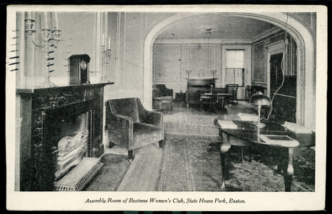 Assembly room of Business Women's Club, State House Park, Boston, Mass.
