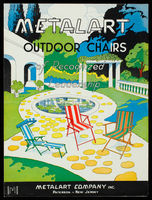 Metalart outdoor chairs of recognized leadership, Metalart Company, Inc., Paterson, New Jersey