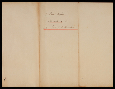 2 Proof Copies - Memoir of the Late General A. A. Humphreys, undated [December 1883]