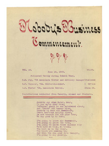 Nobody's Business (vol. 4, no. 28), June 13, 1903