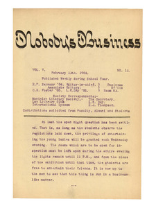 Nobody's Business (vol. 5, no. 13), February 13, 1904