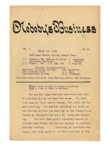 Nobody's Business (vol. 5, no. 16), March 12, 1904