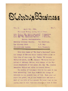 Nobody's Business (vol. 5, no. 17), April 9, 1904