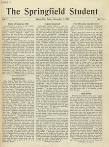 The Springfield Student (vol. 7, no. 5), November 1, 1916