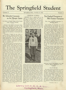 The Springfield Student (vol. 10, no. 2), October 8, 1920