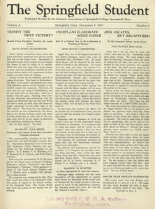 The Springfield Student (vol. 10, no. 6), November 5, 1920