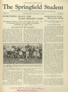 The Springfield Student (vol. 10, no. 7), November 12, 1920