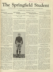 The Springfield Student (vol. 10, no. 9), December 3, 1920