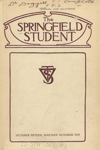 The Springfield Student (vol. 1, no. 1), October 15, 1910