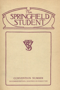 The Springfield Student (vol. 1, no. 2), November 15, 1910