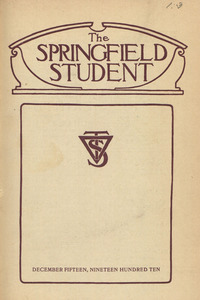 The Springfield Student (vol. 1, no. 3), December 15, 1910