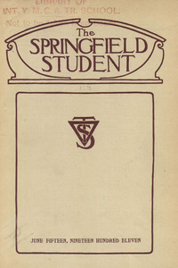 The Springfield Student (vol. 1, no. 9), June 15, 1911