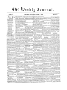 Chicopee Weekly Journal, April 7, 1855