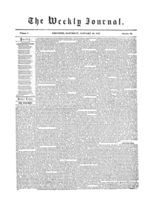Chicopee Weekly Journal, January 20, 1855