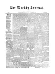 Chicopee Weekly Journal, November 18, 1854