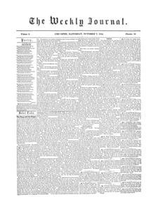 Chicopee Weekly Journal, October 7, 1854