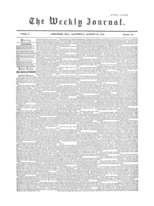 Chicopee Weekly Journal, August 26, 1854
