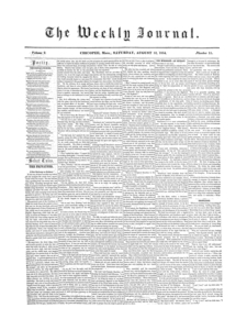 Chicopee Weekly Journal, August 12, 1854