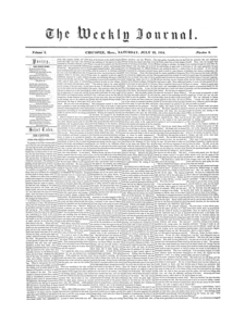 Chicopee Weekly Journal, July 22, 1854
