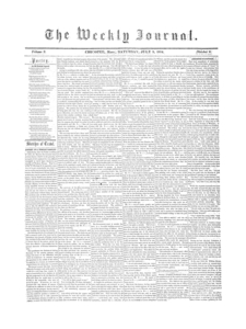 Chicopee Weekly Journal, July 8, 1854