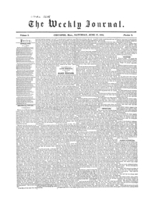 Chicopee Weekly Journal, June 17, 1854