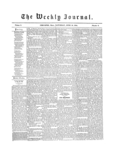 Chicopee Weekly Journal, June 10, 1854