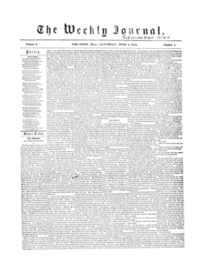 Chicopee Weekly Journal, June 3, 1854