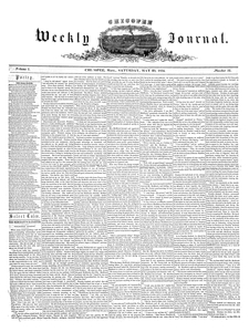 Chicopee Weekly Journal, May 20, 1854