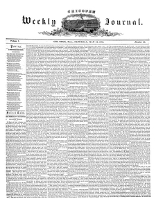 Chicopee Weekly Journal, May 13, 1854