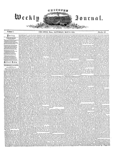 Chicopee Weekly Journal, May 6, 1854