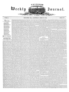 Chicopee Weekly Journal, April 29, 1854