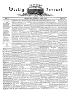 Chicopee Weekly Journal, April 22, 1854