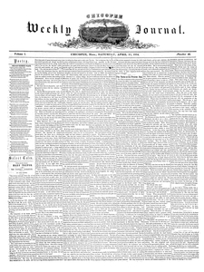 Chicopee Weekly Journal, April 15, 1854