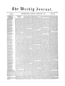 Chicopee Weekly Journal, February 9, 1856