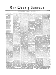 Chicopee Weekly Journal, February 2, 1856