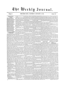 Chicopee Weekly Journal, January 19, 1856