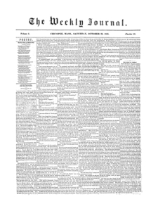 Chicopee Weekly Journal, October 20, 1855